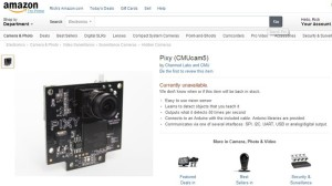 "Amazon Pixy listing --- it sort of defies all categories, so Pixy, for now, is in the ""spy camera"" category"