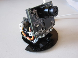 Pixy mounted on a pan/tilt mechanism